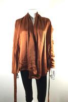 PORTS 1961 Orange Silk Cotton Cardigan Sweater Size Small