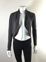 IRIS Gray Long Sleeve Cropped Shrug Cardigan Jacket Size P/S