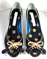 AUTHENTIC CHRISTIAN LACROIX Leather Peep Toe Pump Heel Size 38