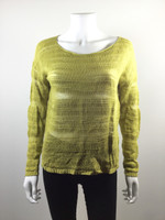 EILEEN FISHER Yellow Organic Linen Sweater Size Small