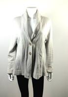 ROSIE NEIRA Ivory Striped Blazer Sweater Jacket Size X Large