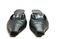 AUTHENTIC PRADA Black Leather Kitten Heel Slide Pump Heel SIZE 37.5