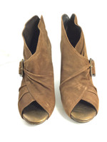 DONALD J. PLINER Brown Suede Zandra Ankle Bootie Size 7.5
