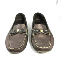 AUTHENTIC COLE HAAN Brown Leather Flat Slip On Loafer Size 8