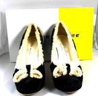 BETTYE MULLER Black Suede Nanny Pump Heel Size 36.5M IN BOX $390