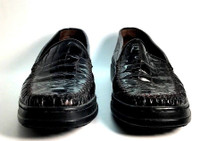 STUART WEITZMAN Black Croc Patent Leather Loafer Size 8
