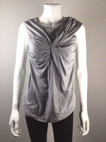 3.1 PHILLIP LIM Gray Twist Front Cotton Tank Top Blouse Size X Small