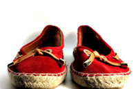 MAYPOL Red Espadrille Slip On Flats Size 39