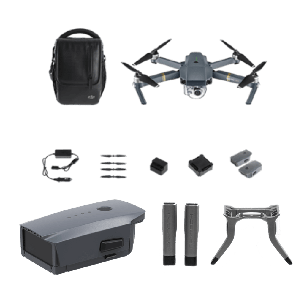 Mavic Pro Fly More Combo & Extra Battery & PGY Landing Gear Extensions