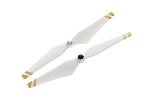9450 Self-tightening Propellers (Composite Hub, White with Gold Stripes)