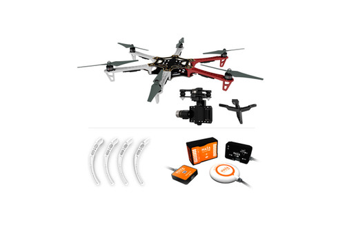 F550 ARF KIT + Landing Gear + Naza-M V2 + Mounting Adapter for F550 + Zenmuse H3-3D (Standard)