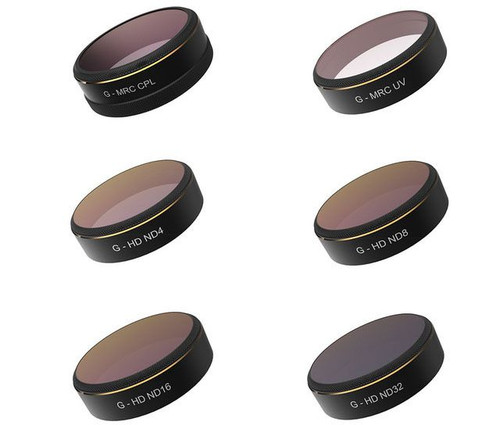 PGYTech - Phantom 4 Pro Filters 6-pack + Case