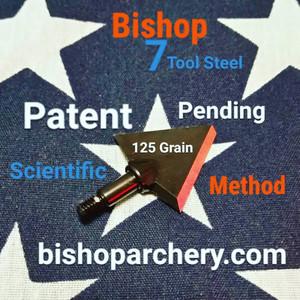 ONE TEST HEAD - 125 GRAIN PROPRIETARY BISHOP S7 TOOL STEEL SCIENTIFIC METHOD