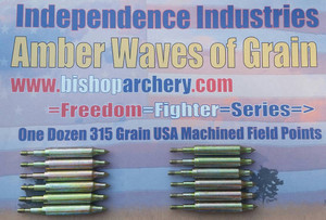 ONE DOZEN 315 GRAIN FIELD POINTS