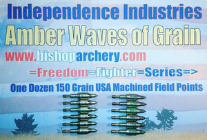 ONE DOZEN 150 GRAIN FIELD POINTS