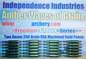 TWO DOZEN 250 GRAIN FIELD POINTS