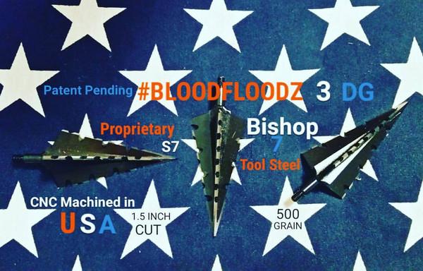 500 GRAIN PROPRIETARY BISHOP S7 TOOL STEEL 1.5 INCH CUT #BLOODFLOODZ 3 DG