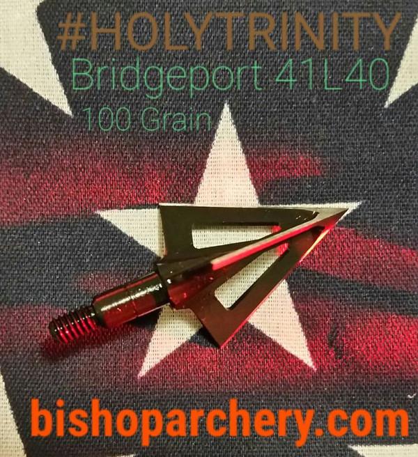 ONE TEST HEAD - 100 GRAIN VENTED BRIDGEPORT 41L40 TOOL STEEL HOLYTRINITY