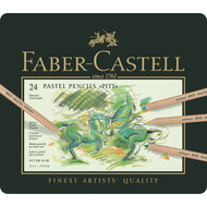 Faber Castell Pitt Pastel Pencil Set - Tin of 24