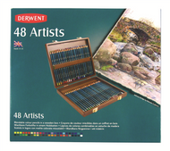 Derwent Artists Pencil Set - Wooden Box of 48
