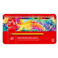 CARAN d'ACHE SUPRACOLOR® Soft Aquarelle Set - Tin of 40
