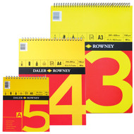 Daler Rowney Red & Yellow  Drawing Spiral Pads -150gsm