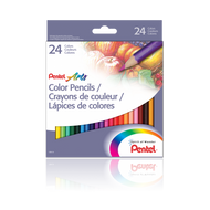 PENTEL ARTS COLOUR PENCILS - SET OF 24