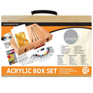 Simply Acrylic Wooden Box Set-27 pieces