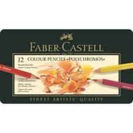 Faber Castell Polychromos Pencils Tin of 12