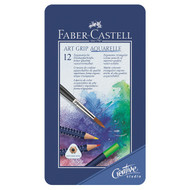 Faber Castell Art Grip Aquarelle Pencils Tin of 12
