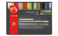 Caran d'Ache Landscape Assortment - 20 Pastel Pencils & 20 Pastel Cubes