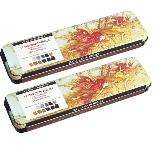 Daler Rowney Artists' Sketching 12-Pencil Tin
