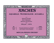Arches Aquarelle Blocks - Hot Pressed (Satine)