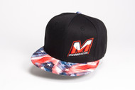 "M0512-RF MUGEN ""M"" LOGO HAT (BLACK/RED FLAG)"