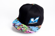 "M0512-GR MUGEN ""M"" LOGO HAT (BLACK/GRAFFITI)"