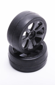 FP1800SB FP PRE-MOUNTED 1/8 GT TIRES SOFT (40) BLACK 2pcs