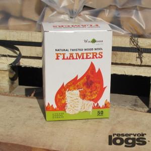 wood wool flamers firelighters by reservoir logs