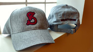 """Honoring our Heritage with our """"S"""" hat. Structured synthetic linen hat, low profile, pre-curved visor with Adjustable silver metal slider.  Embroidered Shattuck """"S"""" front and """"SHATTUCK"""" on the Back of the hat."""