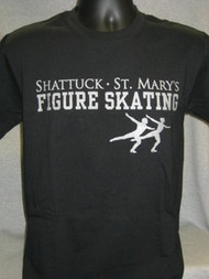 Black  Figure Skating T-Shirt
