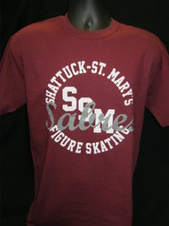 Maroon Figure Skating T-Shirt