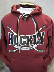 Appliqued Maroon Hockey Sweatshirt XXL