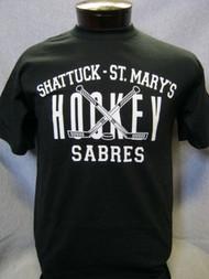 Black hockey t-shirt