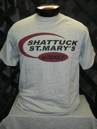 Gray hockey t-shirt
