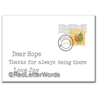 Letter Hope Thanks