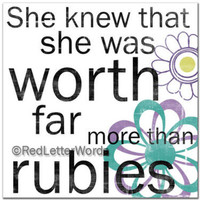 She Knew. . . Rubies Teen 5x5 Cafe Mount