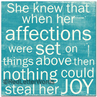 She Knew... Affections