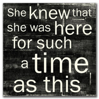 She Knew. . . For A Time - Card