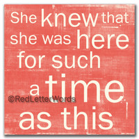 She Knew... for a time 5x5 Cafe Mount