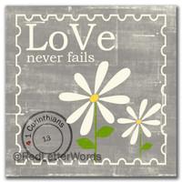 Daisy - Love Never Fails 5x5 Cafe Mount