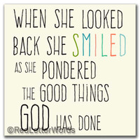 She Smiled...Looking Back - 5x5 Cafe Mount